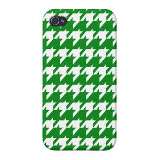 Grünes Hahnentrittmuster iPhone 4 Hüllen