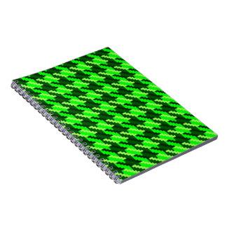 Grünes Hahnentrittmuster Notizblock