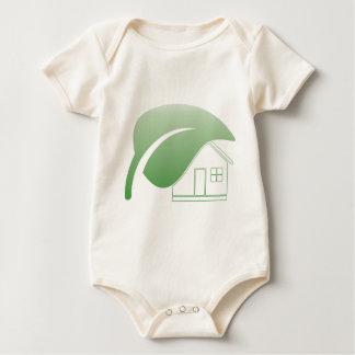grünes Haus Baby Strampler
