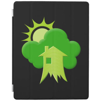 Grünes Haus iPad Hülle