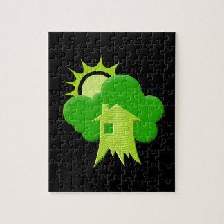 Grünes Haus Puzzle
