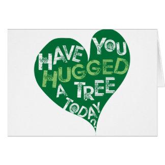 Grünes Herz (umarmen Sie einen Baum) Karte
