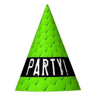 Grünes Hexagon Partyhütchen