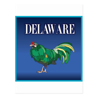 Grünes Huhn Delawares Postkarte