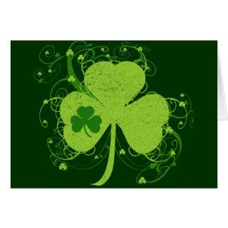 Grünes irisches Kleeblatt Karte