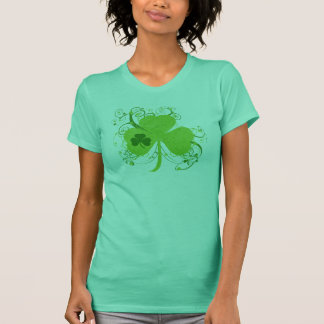Grünes irisches Kleeblatt T-Shirt