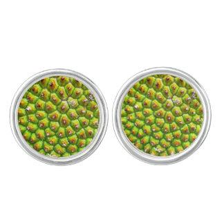 Grünes Jack-Frucht-Manschettenknopf-Silber Manschettenknöpfe