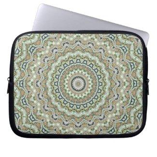 Grünes Kaleidoskop Computer Sleeve Schutzhüllen