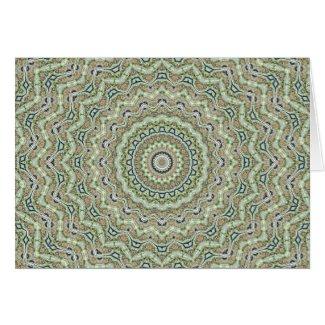 Grünes Kaleidoskop Karten