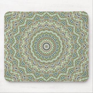 Grünes Kaleidoskop Mauspad