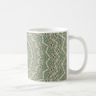 Grünes Kaleidoskop Teetasse