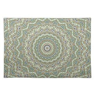 Grünes Kaleidoskop Tisch Sets