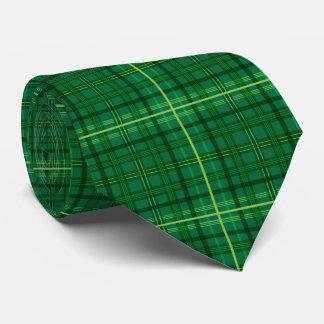 Grünes kariertes krawatte