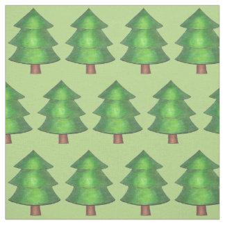Grünes Kiefern-Baum-Baum-Waldlager-Campings-Holz Stoff