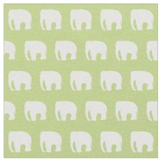 Grünes Kinderzimmer-Pastellgewebe, Elefant-Gewebe Stoff