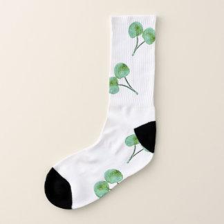 Grünes Kirschmuster Socken