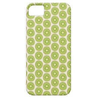Grünes Kiwi-Muster iPhone 5 Etuis