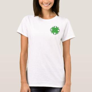 Grünes Klee-Band T-Shirt
