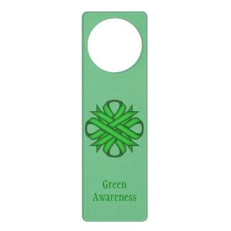 Grünes Klee-Band Türanhänger
