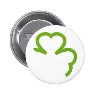 grünes Kleeblatt Irland Button