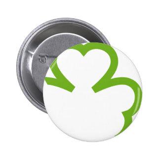 grünes Kleeblatt Irland Runder Button 5,7 Cm