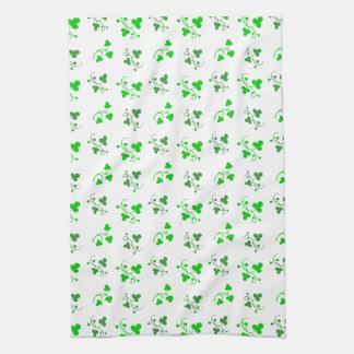 Grünes Kleeblatt-Muster-Küchen-Tuch Geschirrtuch