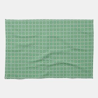 Grünes kleines Kleemuster-Geschirrtuch Handtuch
