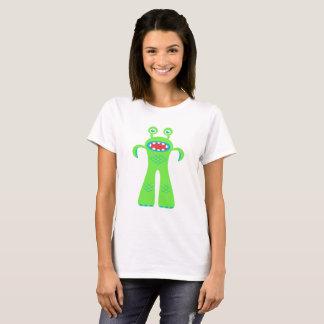 Grünes kleines Monster T-Shirt