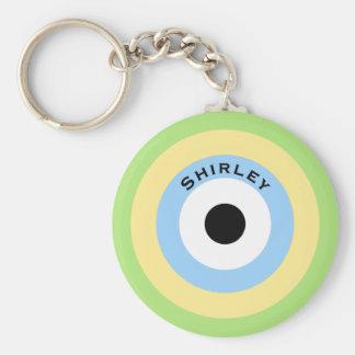 Grünes Kombinations-Bullauge durch Shirley Taylor Schlüsselanhänger