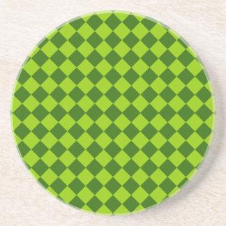 Grünes Kombinations-Diamant-Muster durch STaylor Getränkeuntersetzer