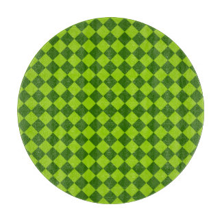 Grünes Kombinations-Diamant-Muster durch STaylor Schneidebrett