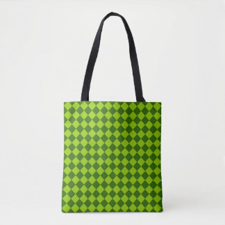 Grünes Kombinations-Diamant-Muster durch STaylor Tasche