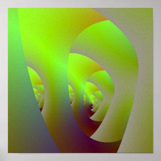 Grünes Labyrinth-Plakat Poster