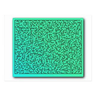 Grünes Labyrinth Postkarte