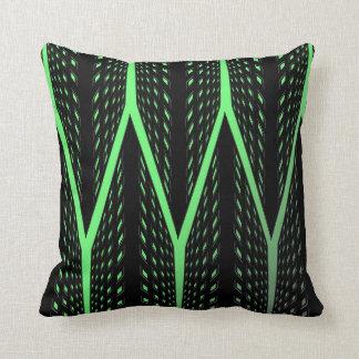 Grünes Laser-Muster Kissen