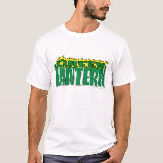 Grünes Laternen-Logo - gelbe Flammen T-Shirt