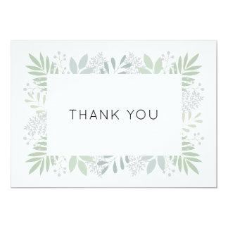 Grünes Laub danken Ihnen, - flaches 12x18 zu Karte