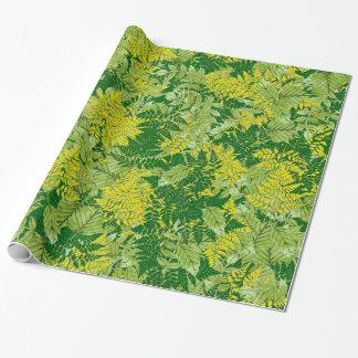 Grünes Laub Geschenkpapier