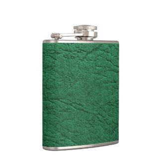 Grünes Leder Flachmann