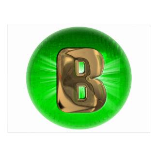 Grünes Licht des TAXI Goldmonogramms B Postkarte