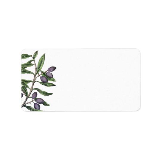 Grünes Lila der Olivenbaum-Niederlassungs-| Adressaufkleber