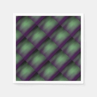 Grünes Lila mit Ziegeln gedeckt Papierservietten