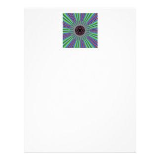 Grünes lila Sonnendurchbruch-Fraktal Bedruckte Flyer