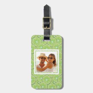 Grünes Limones Muster | addieren Ihr Foto Gepäckanhänger