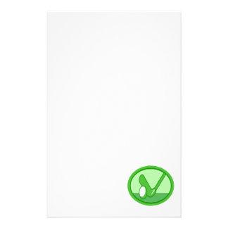 Grünes Logo des Golfs Briefpapier