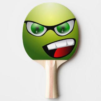 Grünes lustiges Gesichts-Tischtennis-Paddel Tischtennis Schläger