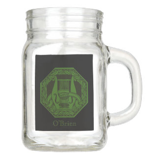 Grünes Lyre-Abzeichen Einmachglas