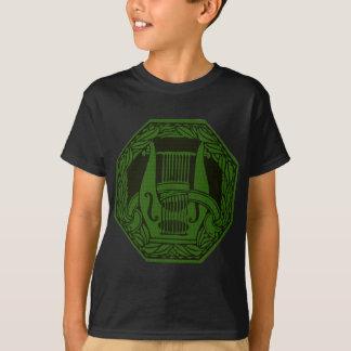 Grünes Lyre-Abzeichen T-Shirt