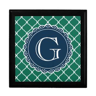 Grünes marokkanisches erinnerungskiste