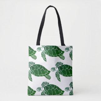 Grünes Meeresschildkröte-Muster Tasche